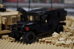 Custom City Hummer HMMWV Truck Black swat door ABSDistributors