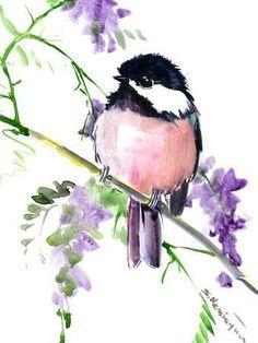 Watercolor Bird, Watercolor Animals, Watercolor Landscape, Watercolor Illustration, Watercolor Paintings, Simple Watercolor, Tattoo Watercolor, Watercolor Techniques, Watercolor Background