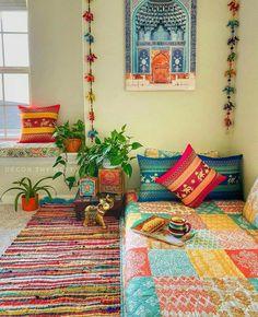 Indian Home Design, Indian Home Interior, Home Decor Furniture, Home Decor Bedroom, Diy Room Decor, Living Room Decor, India Home Decor, Ethnic Home Decor, Indian Room Decor