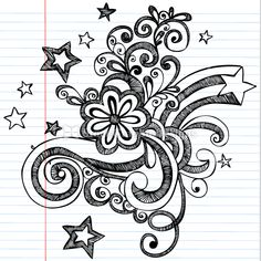cool easy flower designs to draw on paper   Free Flower Vector ...