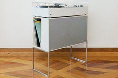 BRAUN L 45 HiFi Lautsprechereinheit mit Unterbau & LP-Rack, 1962