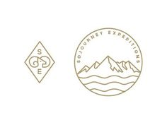 Circular mountain logo. Logo with mountain. Adventure company logo. Sojourney icons #logo #mountain #circlelogo