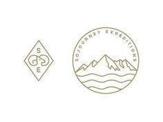 Circular mountain logo. Logo with mountain. Adventure company logo. Sojourney icons #logo #mountain #circlelogo