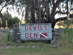 Scuba diving at Devil's Den, Florida!!