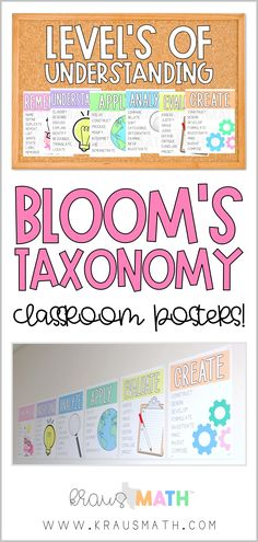 THIS INCLUDES: Remember Understand Apply Analyze Evaluate Create. Each poster includes cognitive verbs associated with each level of Blooms along with a graphic History Classroom, Classroom Posters, Classroom Fun, Flipped Classroom, Teacher Posters, Classroom Charts, Future Classroom, Blooms Taxonomy Poster, Bloom's Taxonomy