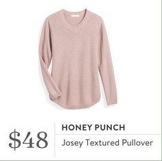 Cute sweater and love this pretty pink. I dont have a lot of clothes/tops this color.