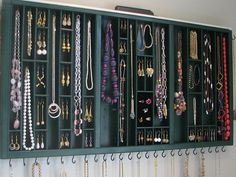 Wooden Jewelry Organizer - with ring cubby via etsy. I need a room of these!!!