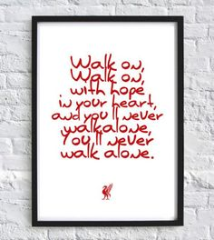 Liverpool FC print You'll never walk alone Football print Soccer Prints wall art prints Liverpool football gifts typography quote by GallerySixtyFive on Etsy Liverpool Football Team, Liverpool Fc Gifts, Uk Football Teams, Liverpool Champions, Liverpool Fans, Football Boys, Football Gift, Liverpool Tattoo, Soccer Sports