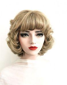 Model ANDREEA #104-Peruca par natural scurt blond mediu cenusiu | Peruci.ro | Peruci.ro Bob Lung, Human Hair Wigs, Wig Hairstyles, Afro, Blond, Princess, Knitting, Carnival, Tricot