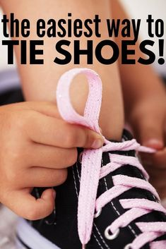 How to Teach a Child How to Tie Their Shoes Teaching children how to tie their shoes so they can be successful in the classroom is no easy task While bunny ears have hel. Tying Shoes For Kids Teaching, Teaching Kids, Kids Learning, Learn To Tie Shoes, Toddler Activities, Motor Activities, Family Activities, How To Teach Kids, Help Kids
