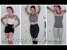 Everyday Vintage and Pinup Outfit Ideas by CHERRY DOLLFACE - YouTube
