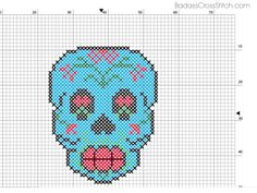 Badass Cross Stitch — Free Sugar Skull Pattern