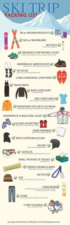 Get organized with 10 ski trip packing lists - Page 2 of 10 - summervacationsin.com