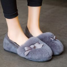 GET $50 NOW | Join RoseGal: Get YOUR $50 NOW!http://www.rosegal.com/flats/faux-fur-bowknot-flat-shoes-918633.html?seid=2275071rg918633