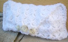 Crochet White Clutch Purse FREE SHIPPING by MLayneDesigns on Etsy