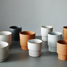 A few different glazes on a few different clays opens up a whole bunch of possibilities. Anchor Ceramics planters. Beautifully shot by @lisacohenphoto.