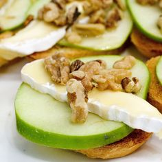 Apple, cheese, nuts appetizer