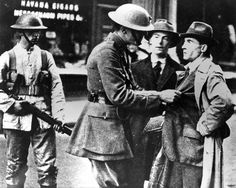 British Soldier searches an Irish Civilian during the War of Independence