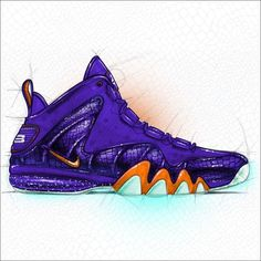 Nike presents a look back at the footwear history of Charles Barkley, leading up to the newly released Nike Barkley Posite Max. Nike Basketball Shoes, Sports Shoes, Nike Presents, Shoe Sketches, Kicks Shoes, Sneaker Art, Drawing Clothes, Best Model, Nike Sportswear