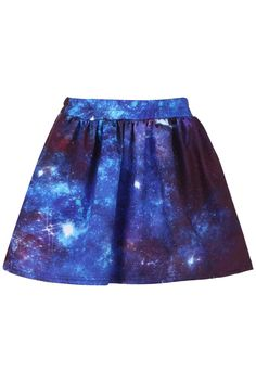 Dark Universe Print Elastic Skirt. Another one in stock!