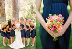 Navy and Coral wedding theme