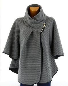 Veste cape poncho femme