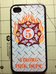 Your Badge Number   Dept. Silicone Rubber Flame Firefighter Iphone 4, 4S & 5 case on Etsy, $16.99