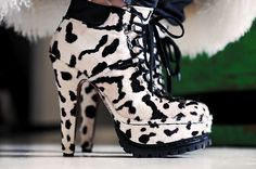 #Alaia Snow Leopard hiking booties.   Everything about this bootie is just...perfect.