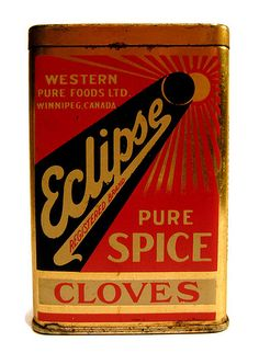 """Eclipse"" Cloves tin. Western Pure Foods Ltd, Canada."
