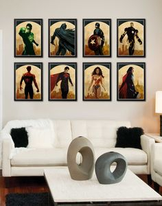 Amazing Superheroes Poster Set / Thor Captain America by onlyarts, $54.90