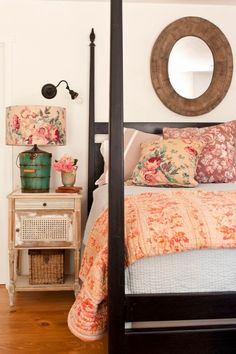 I love the old ice cream barrel as the base to a lamp!!!!!! ::Ojai Cottage | Kelley from The Polished Pebble