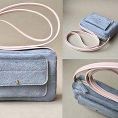 Nouveauté notre mini sac en version light grey tout doux #ateliersaintloup