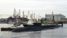 Russian Borey Class nuclear ballistic missile submarine.Russian Navy has plans to create eight of the new Borey and at least three Yasen-class boats submarines by 2020.Borey submarines displaces 19,400 tons submerged and fields 16 SS-N-32 Bulava nuclear ballistic missiles. The Yasen-class boats are roughly the same size as the U.S. Virginia-class SSNs and are fitted with a life of boat reactor that allows them to not be refueled for the about 25-year service life of the submarine.