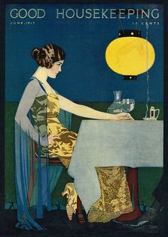 Cover by Coles Phillips, Good Housekeeping magazine, June 1917