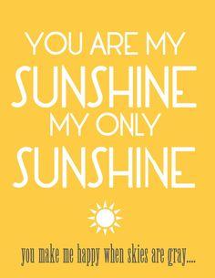 you are my sunshine... @Matthias Janocha Jaeger