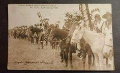 RARE 1909 CRAZY SNAKE CREEK INDIAN WARS OKLAHOMA SETTLERS MARTIN REAL PHOTO RPPC
