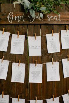 Modern Geometric table assignments Kate+Robert :: 10.01.2016 | Cedarwood Weddings
