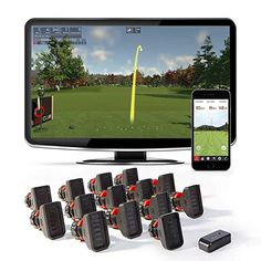 Rapsodo R-Motion Golf Simulator and Swing Analyzer with 14 Clip Attachments - PC and Smartphone - Golf - The Golf apparel ! Golf Swing Analyzer, Golf Mats, Best Projector, Famous Golf Courses, Sky T, Golf Simulators, Home Sport, Golf Accessories