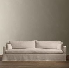 My new sofa!  20% off today only Belgian Track Arm Slipcovered Sofas | Sofas | Restoration Hardware