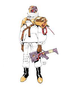 Brave New World — Inktobers Neotokyo iii - Laser Shot. Cyberpunk Character, Cyberpunk Art, Character Concept, Character Art, Concept Art, Science Fiction, Character Design References, Fantastic Art, Sci Fi Art