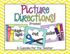 Free picture direction cards that help foster independence and let students know exactly what they are supposed to do