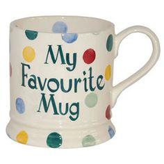Personalised Polka Dot 1 Pint Mug Emma Bridgewater, Dinnerware, Wedding Gifts, Polka Dots, Pottery, Messages, Mugs, My Favorite Things, Names