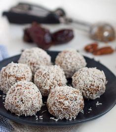 These tasty protein packed energy balls taste like a tasty dessert but are sweetened naturally with dates and have grams of protein each! - Feasting Not Fasting Good Healthy Recipes, Low Carb Recipes, Vegan Recipes, Snack Recipes, Healthy Snacks, Healthy Sweets, Amazing Recipes, Eating Healthy, Clean Eating