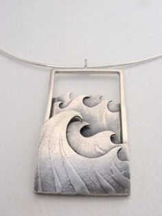 Color story jewelry by Becky Crow – wave pendant « Jewellery   via Stonefinder