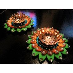 Pink Minakari Diya Pair - Online Shopping for Diyas and Lights by Soulfulsaai - Online Shopping for Diyas and Lights by Soulfulsaai