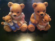 Homco Playtime Bear Figurine 1417 Home Interiors Home Bears and