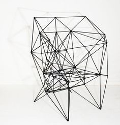 """The Armadillo and Lodge Chair by designer Baltasar Portillo of El Salvador """"sit"""" exactly where furniture and sculpture intersect. Design Furniture, Art Furniture, Chair Design, Modern Furniture, Modular Furniture, Armadillo, Console Design, Wire Chair, 3d Prints"""