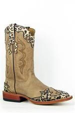 Anderson Bean Horse Power Leopard Wingtip Cowgirl Boots headwestoutfitters.com $190