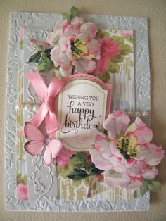 Lovely Anna Griffin card with lots of layers including embossing
