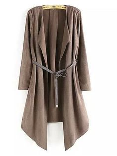 Attractive Lapel Asymmetrical Hems Trench-coats Only $32.95 USD More info...